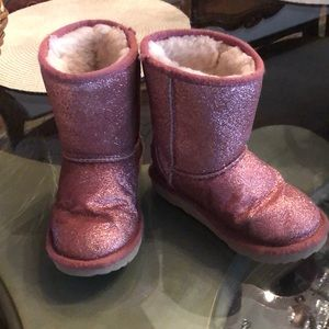 UGG sparkle pink boots toddler size 10
